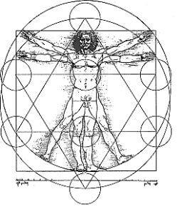 Vitruvian Man Sacred Geometry