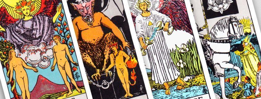 Tarot - The Lovers, The Devil, Temperance, Death